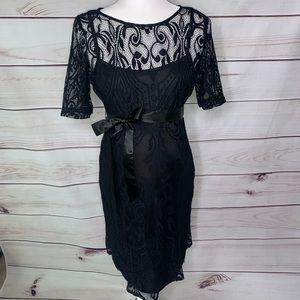 Motherhood Maternity • black lace dress Small